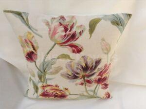 "Laura Ashley Designer Cushion Cover ""GOSFORD"" CRANBERRY Fabric Various Sizes"