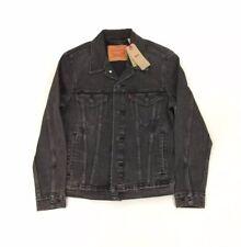 NEW Levi's Strauss Classic Trucker Denim Jean Jacket Black Mens Size Small S