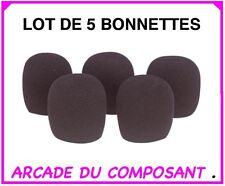 1 LOT 5 BONNETTES NOIR ANTI-VENT POUR MICRO (ref 86-2608)