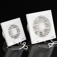 4'' 6'' Extractor Exhaust Fan Window Toilet Kitchen Bathroom Ventilation Fan