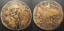 Louis XIII - Jeton de Nuremberg - sacre à Reims 1615 erreur de date ! - F#7883 v
