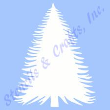 """PINE TREE STENCIL PATTERN PLANT STENCILS TEMPLATE CRAFT TEMPLATES NEW 6"""" X 5"""""""