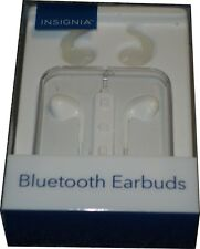 Insignia Bluetooth Wireless Headset Earbuds - White NS-CAHBTEP01