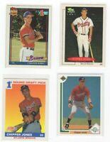 1991  rookie chipper jones  Hall Of Famer 4 card lot