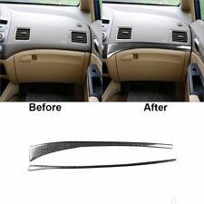 For Honda Civic 8th Gen 2006 11 Carbon Fiber Copilot Dashboard Panel Trim Cover Fits 2006 Civic