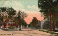 Vintage Postcard 1910's Elm Street Cortland NY New York Leighton & Valentine Co.