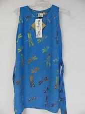 Batik Bali Hawaiian Sun Dress Dragonfly Print Size S/M Rayon Tank Top Style