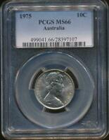 Australia, 1975 Ten Cents, 10c, Elizabeth II - PCGS MS66 (Gem Unc)