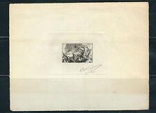 France 1943 Hugo's la Premiere d'Hernani Opera Artist Signed Die Proof *Rare*