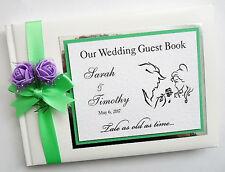 /& sra Lila /& Lace Libro De Visitas Arpillera asesoramiento y deseos Sr Personalizadas boda signo