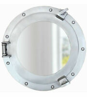 "Ship's Cabin Porthole Mirror Aluminum Finish 11.25"" Nautical Wall Decor New"