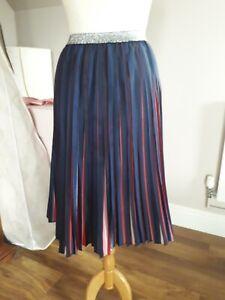 "Cath Kidston ""Birthday skirt"" taffeta pleated Midi Size 8 10 12"