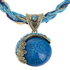 Fashion Round Reiki Ball Crystal Women Lucky Divination Stone Pendant Necklace