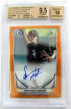 2014 Bowman Chrome Orange Refractor Auto Spencer Adams 3/25 BGS 9.5 10 AUTO