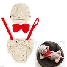 Newborn Baby Gentlemen Theme Crochet Knit Costume Photography Prop Outfit