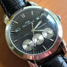 NEW MENS 20 JEWEL AUTOMATIC VAAN KONRAD CALENDARIUM WATCH BLACK EXCESSION MODEL