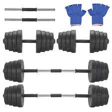Set 2 Mancuernas con Pesas 30 kg Discos Pesos Fitness Musculación Gimnasio Gym