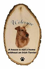 Outdoor Welcome Sign (Tb) - Irish Terrier 51220