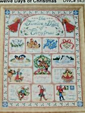 12 DAYS OF CHRISTMAS - DESIGNED BY JOAN ELLIOTT - CROSS STITCH SAMPLER KIT - NEW