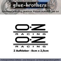 2 Aufkleber OZ Racing Motorsport Decal Sticker Vinyl Sponsoren MotoGP DTM Felge