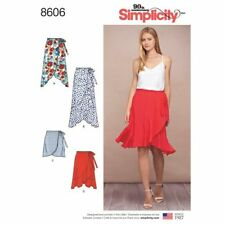 Simplicity Sewing Pattern 8606 Misses 6-14 Wrap Skirts in 4 Lengths
