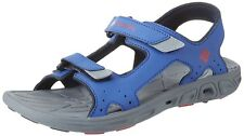 YOUTH COLUMBIA *TECHSUN VENT* SANDALS  COLOR~STORMY BLUE/MOUNTAIN RED  SIZE 4