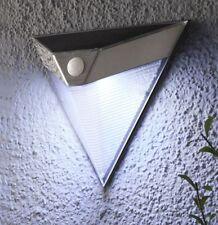 Solar LED Wandleuchte Außen Lampe mit Bewegungsmelder Wand Strahler Edelstahl S7