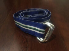 Men's Polo Ralph Lauren Blue Stripe Fabric D Ring Belt sz Small