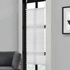 Plissée 90x200cm Blanc -sans Perceuse Pliage des Aveugles