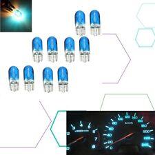 10Pcs W5W T10 501 194 Side Marker Light Glass Bulb Car Halogen Bulbs Blue 12V