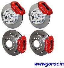 "WILWOOD DISC BRAKE KIT,1969-1970 IMPALA,BEL AIR,CAPRICE,11"" ROTORS,RED CALIPERS"