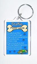 Staffie Laws/Rules, Novelty Keyring, Ideal Present for Birthday/Xmas, New