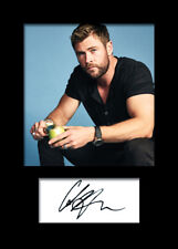 CHRIS HEMSWORTH #5 A5 Signed Mounted Photo Print - FREE DELIVERY