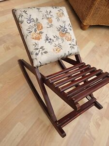 Vintage Small Rocking Chair. Doll or Teddy collector display