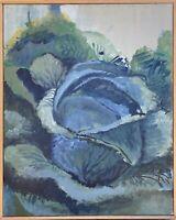 Brigitte Tietze Berlin Peinture À L'Huile Nature Morte Chou 3 Légumes Bio