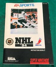 Snes NHL '94 Manual Only