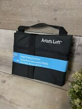 Artist's Loft Large Black Folding Art Portfolio 19 in × 25 inches Nwt Ships Free