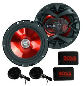 2 Speakers For Auto 6 Inches Two Way Component Speaker System Tweeters Truck RV