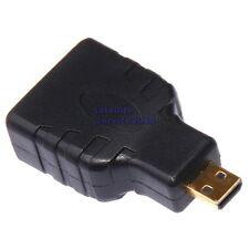 HDMI Micro Maschio a HDMI Femmina Adattatore Placcato Oro Adapter Female/Male