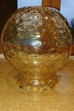 1 SUPERBE GROS GLOBE ABAT-JOUR ANCIEN ART DÉCO lampe haut : 23 cm couleur miel