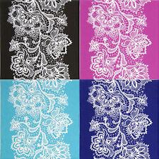 4x Tovaglioli di carta differenti-Bianco Pizzo Colore Mix-per feste, Decoupage CRAFT