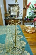 """Table Top Wire Christmas Tree Ornament Bell Metal Hanger 27"""" tall Star Topper"""
