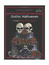 Gothic Halloween: A Scary Adult Coloring Book Free Shipping