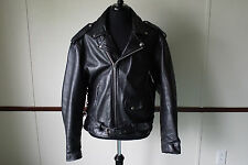 Vintage M M Leather Goods Leather Motorcycle Jacket Size 52 Zip Out Liner