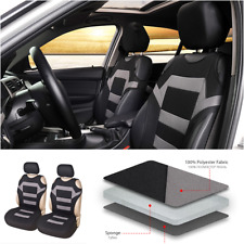 Polyester Fabric Car Seat Covers Full Synthetic Set 2-piece Front Seat Covers