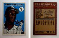 Chris Singleton Signed 2000 Fleer Tradition #174 Card Chicago White Sox Auto