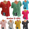 Plus Size Lot Casual Summer Loose Blouse Print Shirt Women Short Sleeve Tee Tops