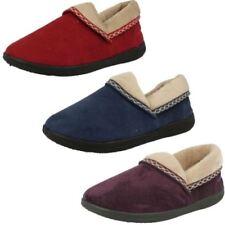 Pantofole da donna blu marca Padders camoscio