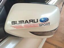 2 X Subaru Sport Side Door Mirror Racing Car Badge Sticker Decal Impreza WRX STI