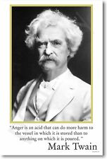 Mark Twain - Anger is an acid...  Motivational POSTER